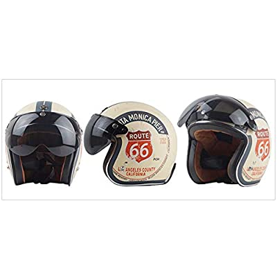 VCOROS 3 Snap 3/4 Helmet Shield with FLIP UP Hinge for TORC T50 Vintage Motorcycle Helmets (Silver): Automotive