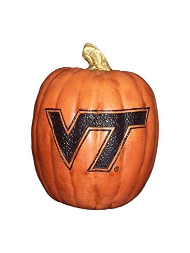 Cumberland Designs Virginia Tech Resin Pumpkin Decor, Small -