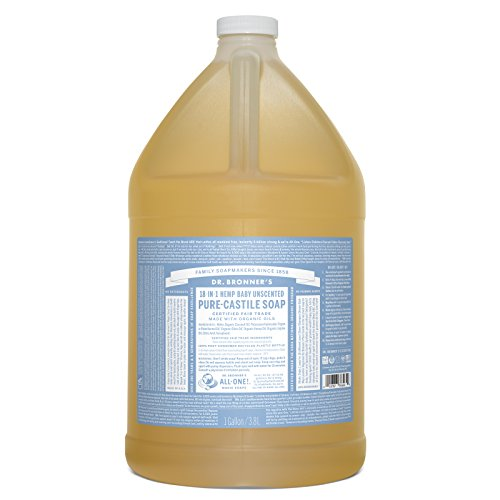 dr bronner 39 s pure castile liquid soap baby unscented 1 gallon buy online in uae baby. Black Bedroom Furniture Sets. Home Design Ideas