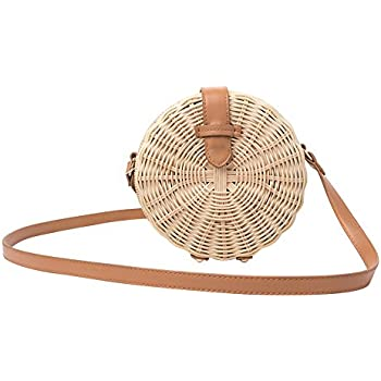 Amazon Com Straw Crossbody Bag Shzons Bamboo Handbags For Women