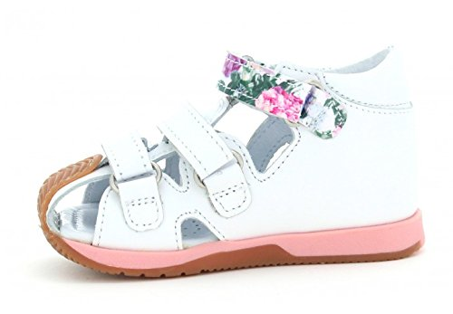 Bartek Girls Leather T-Strap Shoes Closed Toe Sandals 81021//1GS Toddler//Little Kid