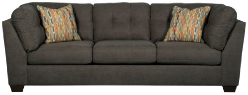 Ashley Furniture Delta City Microfiber Sofa in Steel