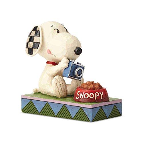 Enesco Jim Shore Peanuts Foodie Snoopy Figurine, 4.53 Inch, Multicolor