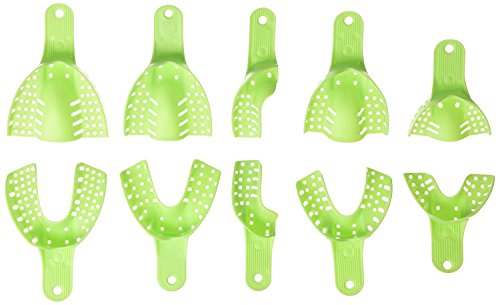 Dental Supply - AZDENTÂ Dental Supply Impression Trays Autoclavable Central 10pcs/box(Light green)