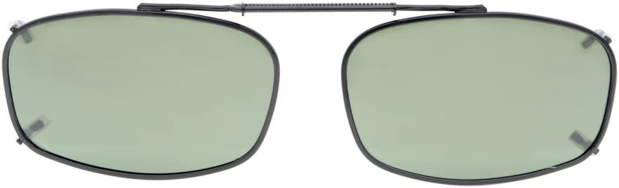 Eyekepper Metal Frame Rim Polarized Lens Clip On Sunglasses 51x36MM 3pcs Mix