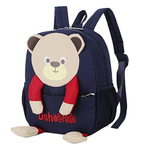 Dark Bags Girls Kids Baby Cartoon Boys Blue Toddler Pattern School EUzeo Backpack Bag Bear wqTgPxpp7C