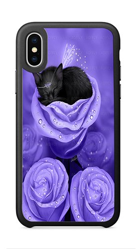 AOFFLY Case for Apple iPhone X 5.8 Inch Only - Melissa Dawn - Lilac Daydreams - Shock Absorption Protection Phone Cover Case - Daydream Lilac
