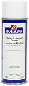 Mohawk Finishing Products M104-S224 Mohawk Black Satin Colored Lacquer Enamel, 13 Oz