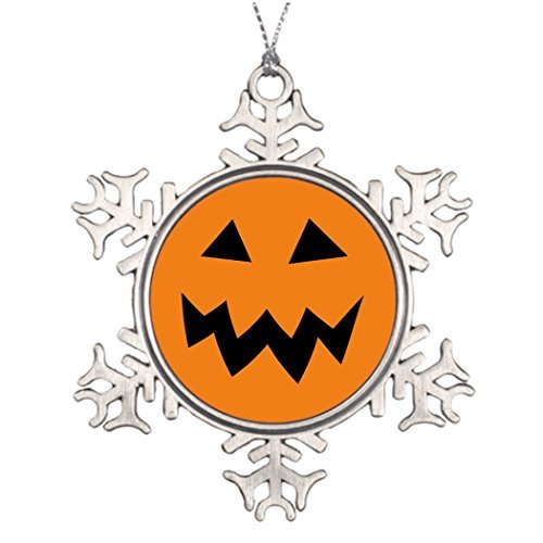 OneMtoss Christmas Snowflake Ornament Tree Branch Decoration Large Halloween Pumpkin Head Carving s Picture Snowflake Ornaments Halloween ()