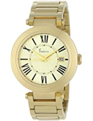 Freelook Womens HA1234GM-3 Cortina Roman Numeral Matte Gold  Watch