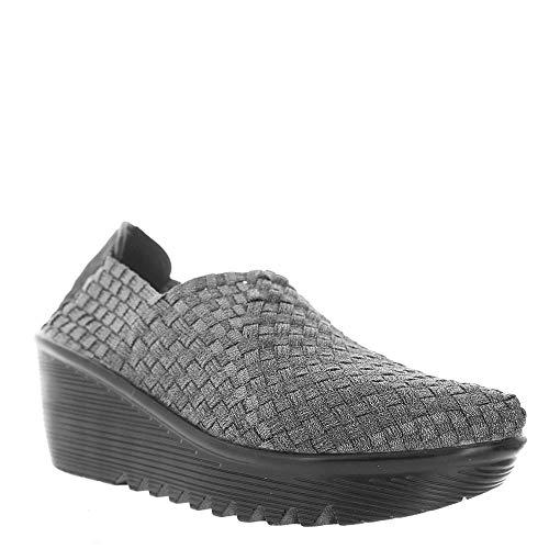 Bernie Mev Womens Gem Wedge Shoes,Pewter,39