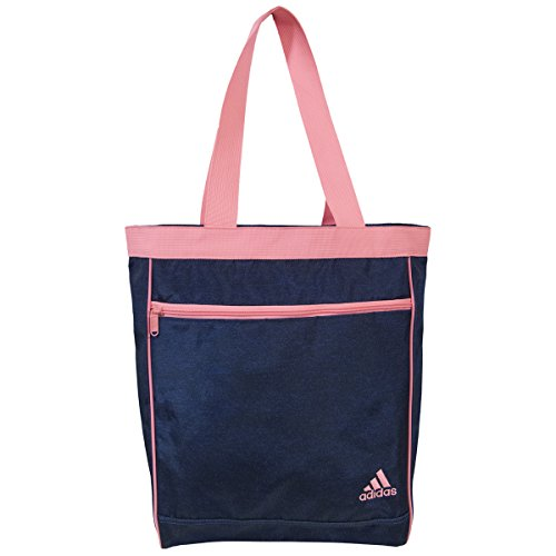 adidas Women's Studio Club Tote Bag, Heather Bold Blue/Light Flash Red Pink, One Size