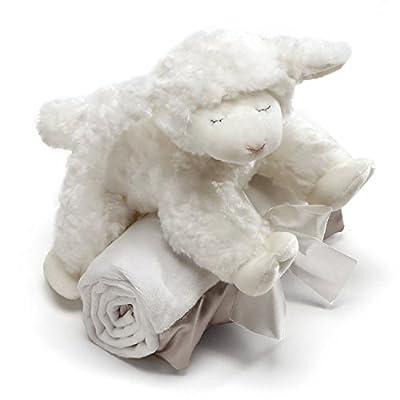 "Baby GUND Winky Lamb with White Blanket, Stuffed Plush Set of 2, 7"""