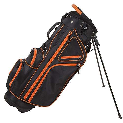 Pinemeadow Golf Courier 3.0 Stand Bag, Black/Orange -