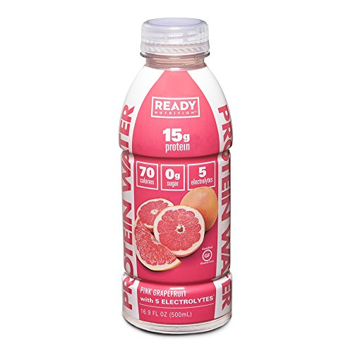 Ready Nutrition Protein Infused Water, 15g Whey Protein Isolate, 0 Sugar, No Artificial Ingredients, Great for Weight Loss, Pink Grapefruit (16.9 fl oz Bottle, Pack of 12) For Sale
