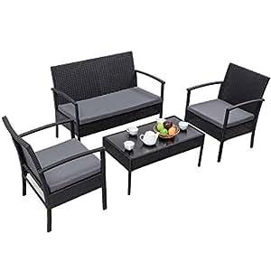 Amazon.com: Alek...Shop - Sillón de ratán para muebles y ...
