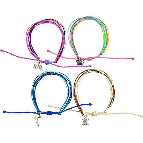 FROG SAC 4 Friendship Bracelets for Women, Girls,