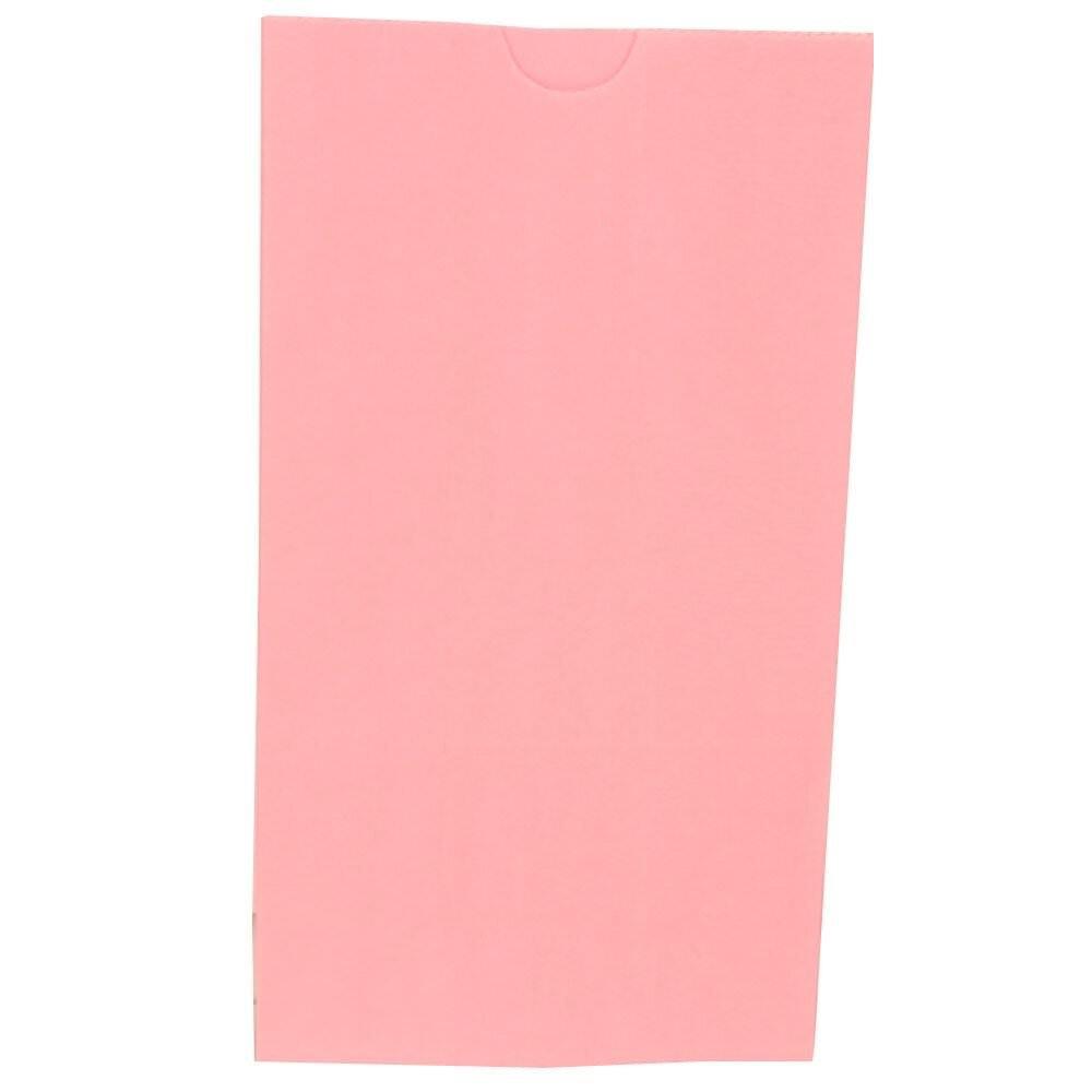 JAM Paper Kraft Lunch Bag - Medium - 5'' x 9 3/4'' x 3'' - Baby Pink - 500/Box