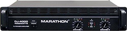 Marathon Dj-4000 Dj Series Power Amplifier 500@8 Ohms - 1000@4 Ohms - Up To 4000@8ohm Bridge by Marathon