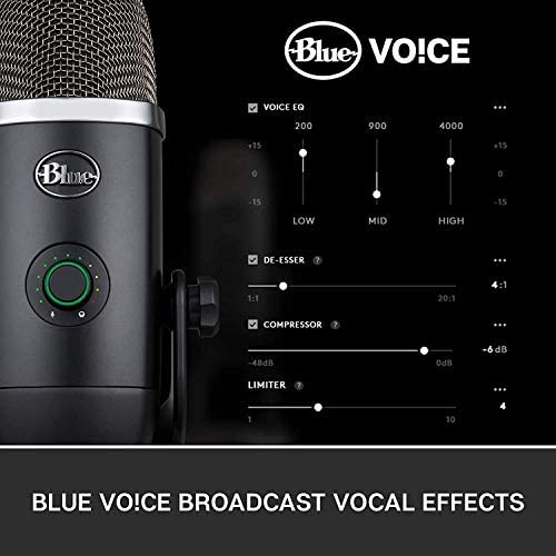 Newest Blue Yeti X Professional Condenser USB Microphone with High-Res Metering, LED Lighting, Gaming, Streaming, Podcasting, PC&Mac with GalliumPi Accessories