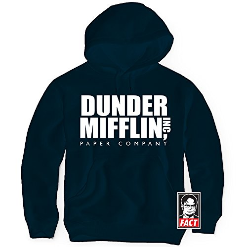 Daft Threads ~ Dunder Mifflin The Office Hoodie Sweatshirt & Sticker