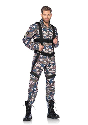 Womens Paratrooper Costume (2pc. Paratrooper Flight Suit Costume Bundle with Pink Shorts)