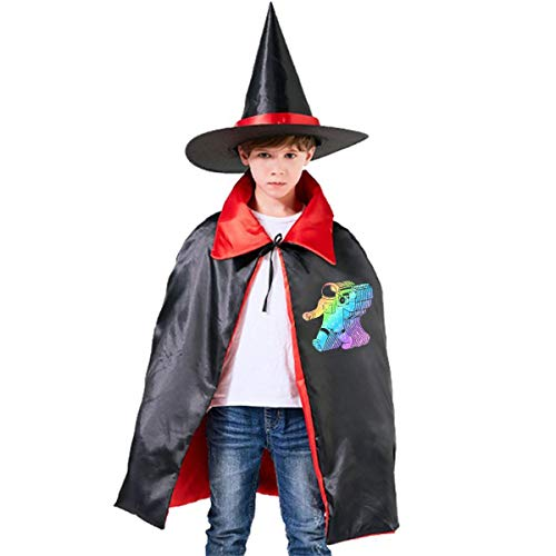 Wodehous Adonis 80s Music Hits Alien Overlay Child's Halloween Costumes Witch Wizard Dress Up Cloak With Pointed -