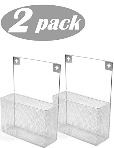 Ybm Home Silver Mesh Wall Mount Pantry Caddy  Wrap Rack Size 10 1 2 X 14 1 2 X 4 Inches 1154  2