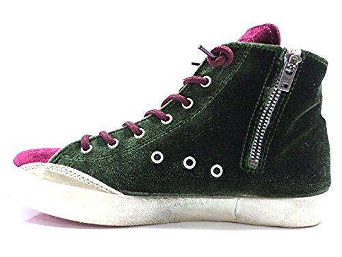 Zapatos Mujer ISHIKAWA 37 EU Sneakers Azul Verde Borgoña Terciopelo AW694
