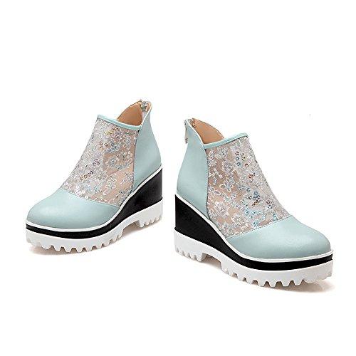 AdeeSu Womens Platform Casual Slip-Resistant Wedges Urethane Boots SXC02146 Blue uc0AZx6DfJ