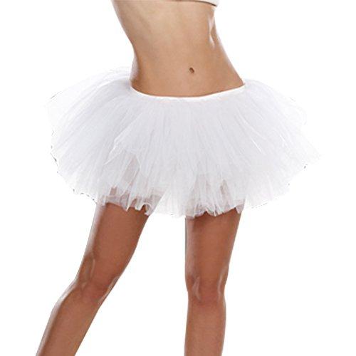 Dreamgirl Women's Light Up Tutu Dress, White, One -