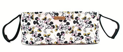 Disney Smile Mickey Minnie Mouse Organizer Diaper Storage Space for Cup Hoders, iPhones, Diapers, Toys (Ivory) by DisneyBagStore