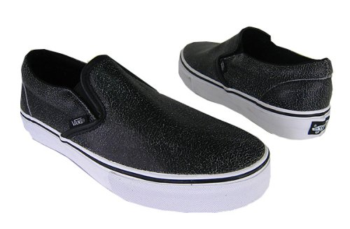 vans shoes black leather neon pink vans