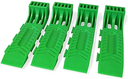 Set of 4 Tow Trucks BA Products // Wreckmaster 48-701135 Green Interlocking Wreckmaster Tire Skates Wreckers for Rollbacks Carriers Flatbeds