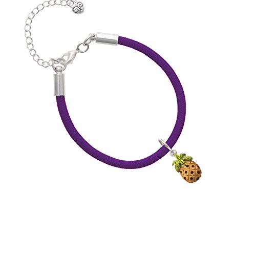 (Enamel Pineapple Purple Malibu Paracord Bracelet)