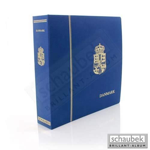 Schaubek Album Dänemark 1980-2009 Standard im geprägten Leinen-Schraubbinder blau, Band II, mit Schutzkassette KOA-806/02N