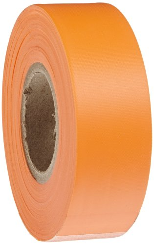 Brady Flourescent Orange Flagging Tape for Boundaries and Hazardous Areas - Non-Adhesive Tape, 1.188 Width, 150 Length (Pack of 1) - 58352