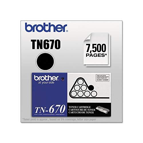 An Item of Brother TN670 High-Yield Toner Cartridge, Black (7,500 Yield) - Pack of 1 (Yield Tn670 High)