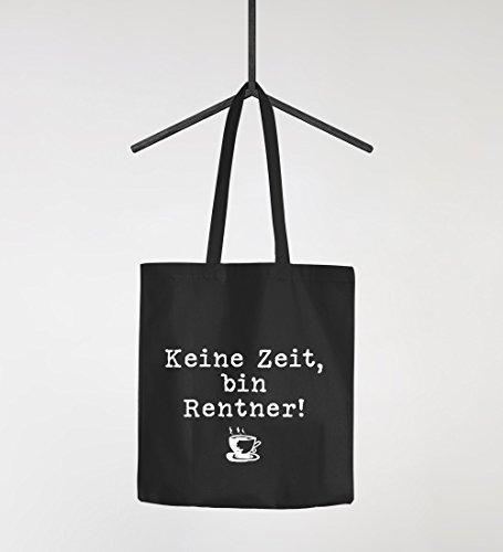 Keine Zeit bin Rentner Einkaufstasche Jutebeutel Stoffbeutel Moonworks® schwarz unisize Schwarz
