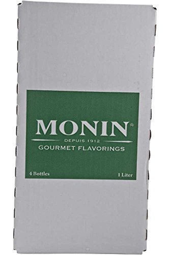Monin Spicy Mango Syrup, 1 Liter -- 4 per case. (Most Commonly Used Condiment In The World)