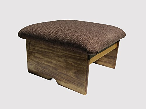 Dog Footstool - Padded Foot Stool, Doggie Step, Cocoa Brown, 10