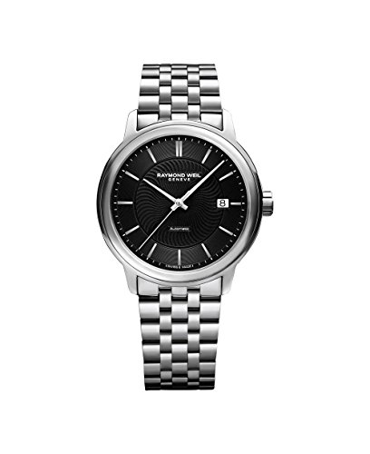 Raymond Weil Men's 'Maestro' Swiss Automatic Stainless Steel Casual Watch, Color:Silver-Toned (Model: 2237-ST-20001)