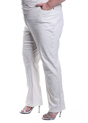 Paola! - Pantalón - recto - para mujer Weiß