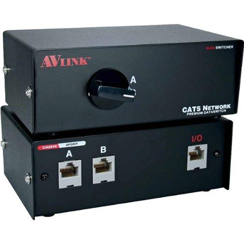 QVS 2Port CAT5/RJ45 Premium Manual Switch (CA284E-2S)