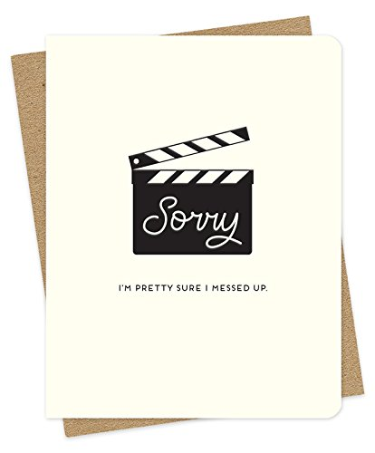 Take 2 Letterpress Apology Card by Night Owl Paper Goods - Letterpress Printed Card