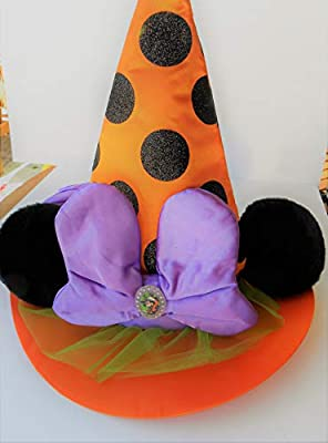 Collectibles Disneyana Authentic Disney Parks Exclusive Minnie Mouse Halloween Headband w/ Cameo & Bow