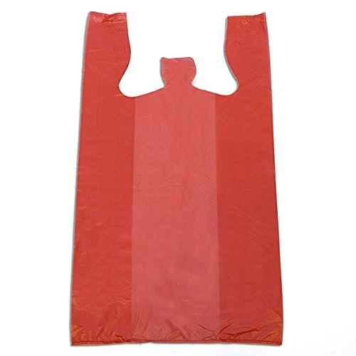 KC Store Fixtures 06136 Plastic T-Shirt Bag, High Density, 12