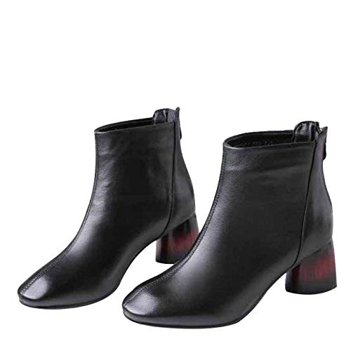 Stivaletti Tacco Donna In Alto Black Pelle Miss Con Caviglia Stile Li Da 5fSw7Wq1