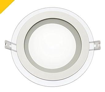 Spectrum LED Integra 12 W empotrada Downlight redonda de cristal en, 600 lúmenes blanco cálido
