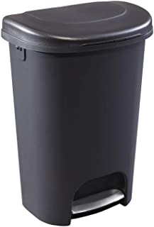 product image for Rubbermaid Step-On Lid Trash Can for Home, Kitchen, and Bathroom Garbage, 13 Gallon, Black